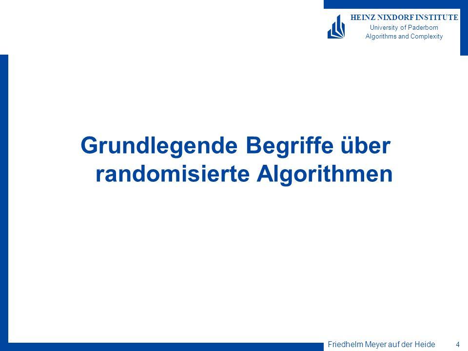 Grundlegende Begriffe über randomisierte Algorithmen