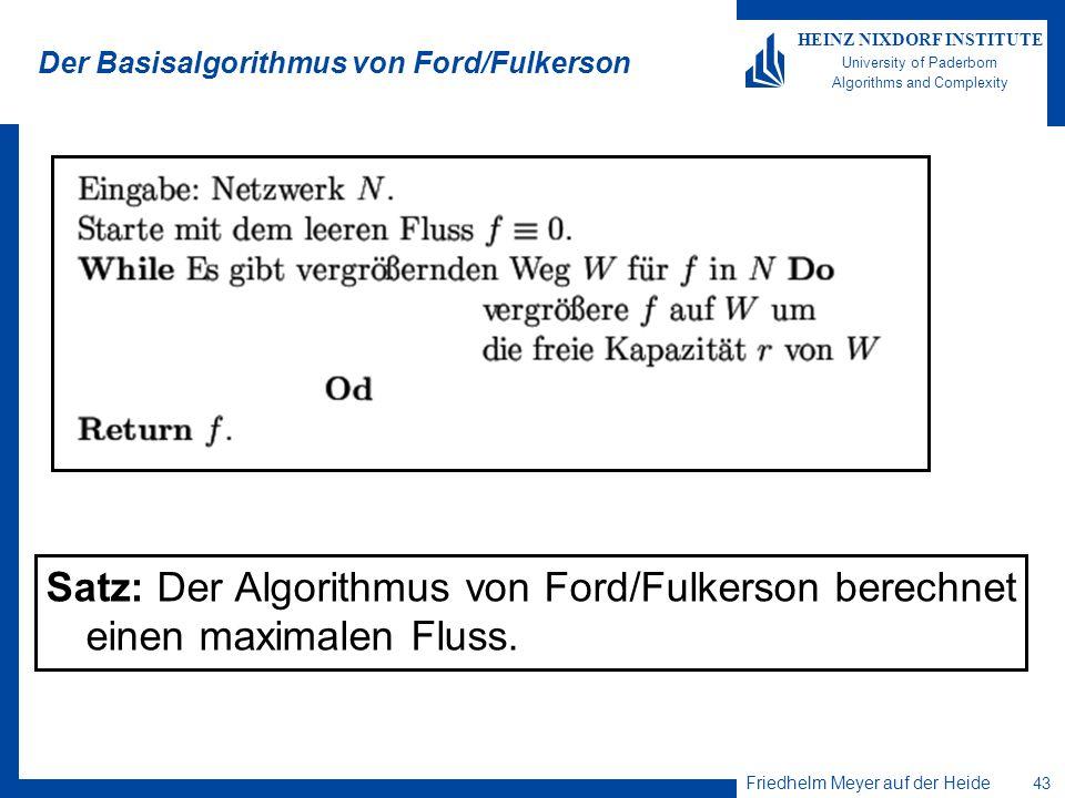 Der Basisalgorithmus von Ford/Fulkerson