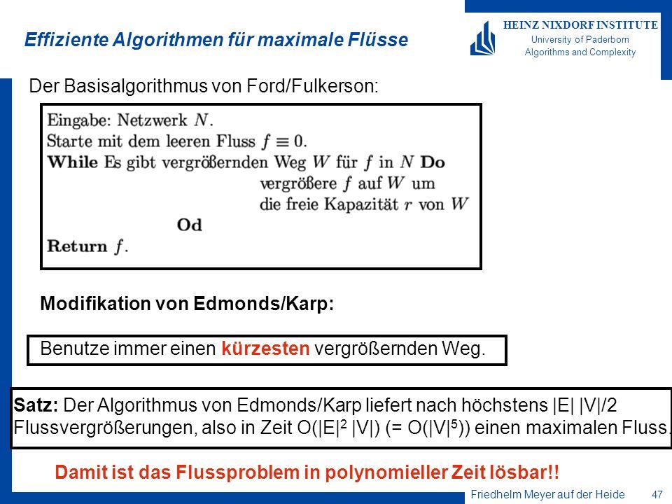 Effiziente Algorithmen für maximale Flüsse