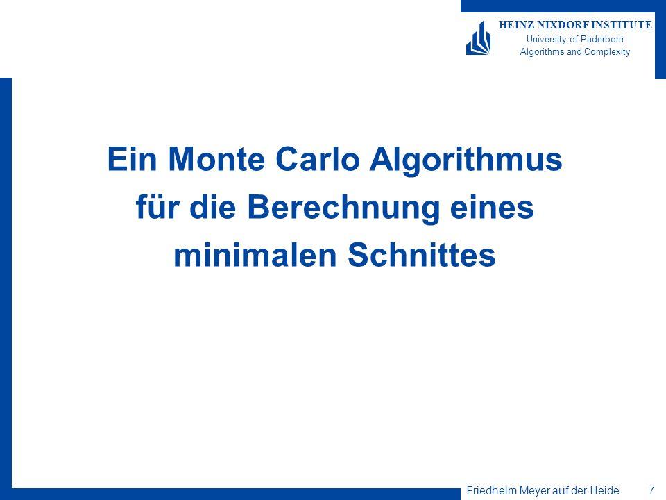 Ein Monte Carlo Algorithmus für die Berechnung eines