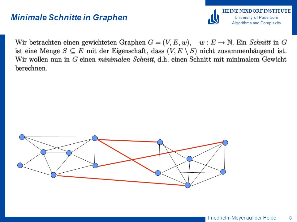 Minimale Schnitte in Graphen