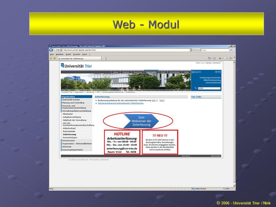 Web - Modul  2006 - Universität Trier / Nink