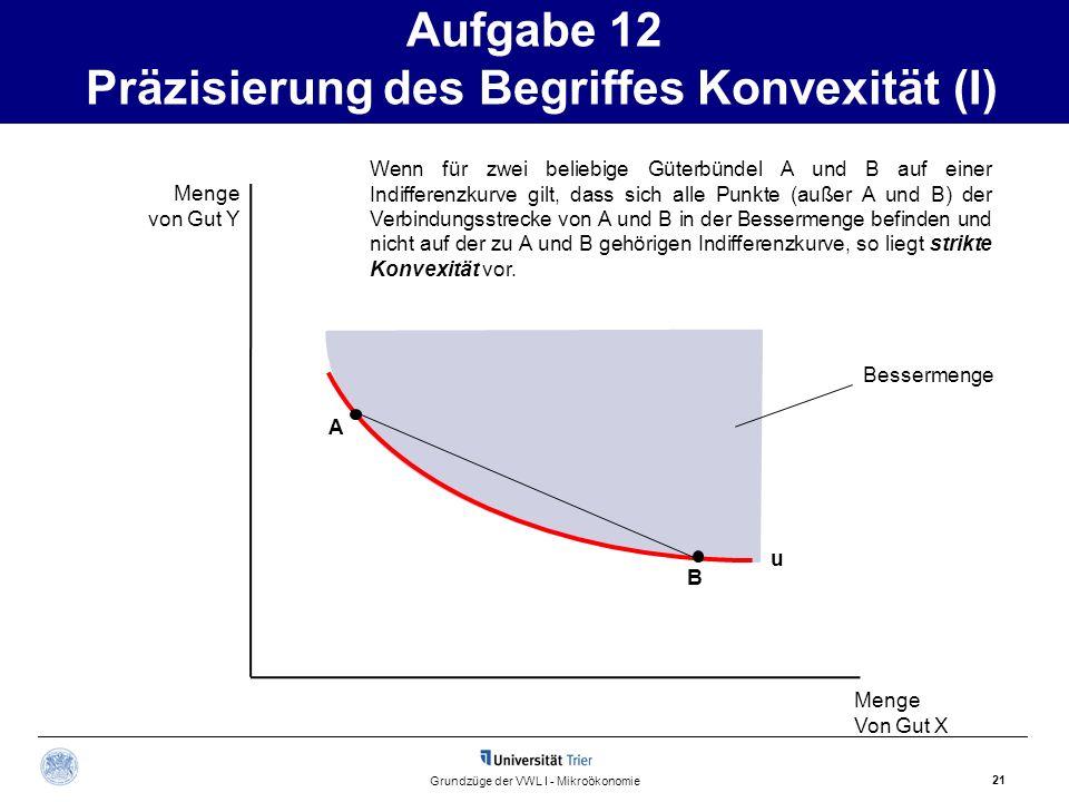 Aufgabe 12 Präzisierung des Begriffes Konvexität (I)