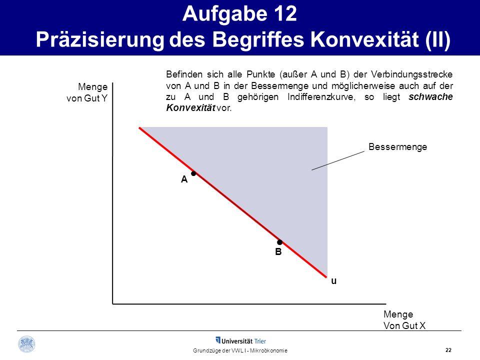 Aufgabe 12 Präzisierung des Begriffes Konvexität (II)