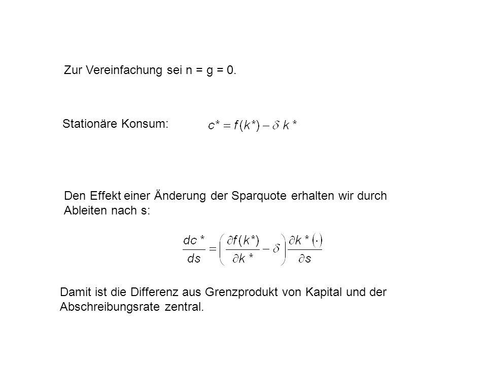 Zur Vereinfachung sei n = g = 0.