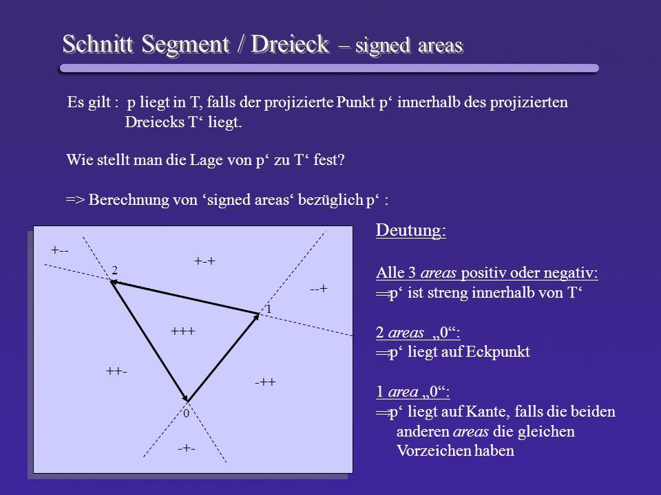 Schnitt Segment / Dreieck – signed areas