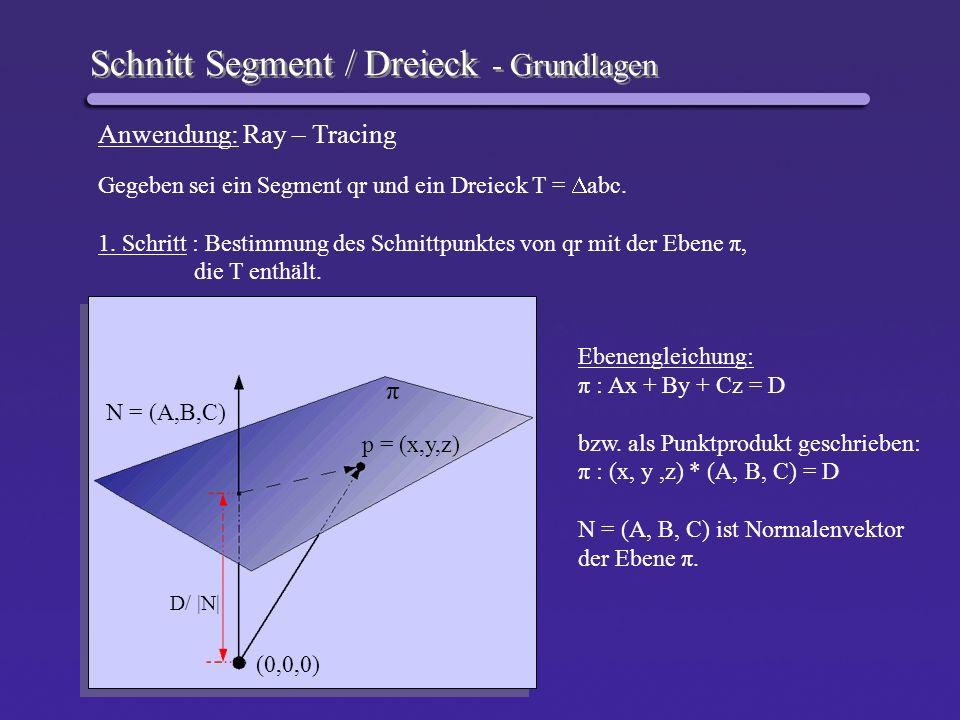 Schnitt Segment / Dreieck - Grundlagen