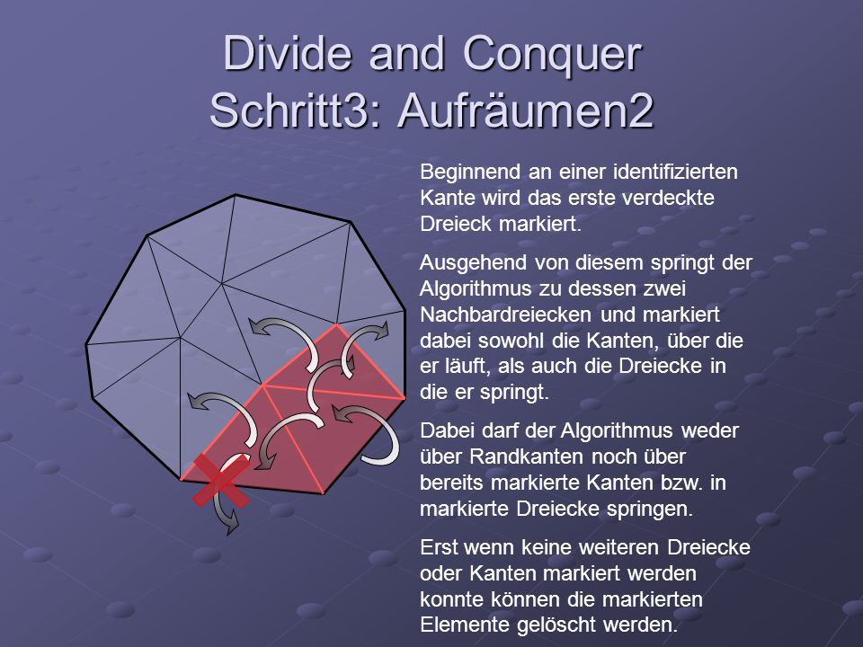 Divide and Conquer Schritt3: Aufräumen2