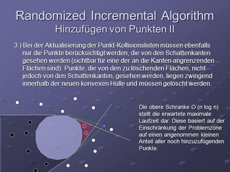 Randomized Incremental Algorithm Hinzufügen von Punkten II