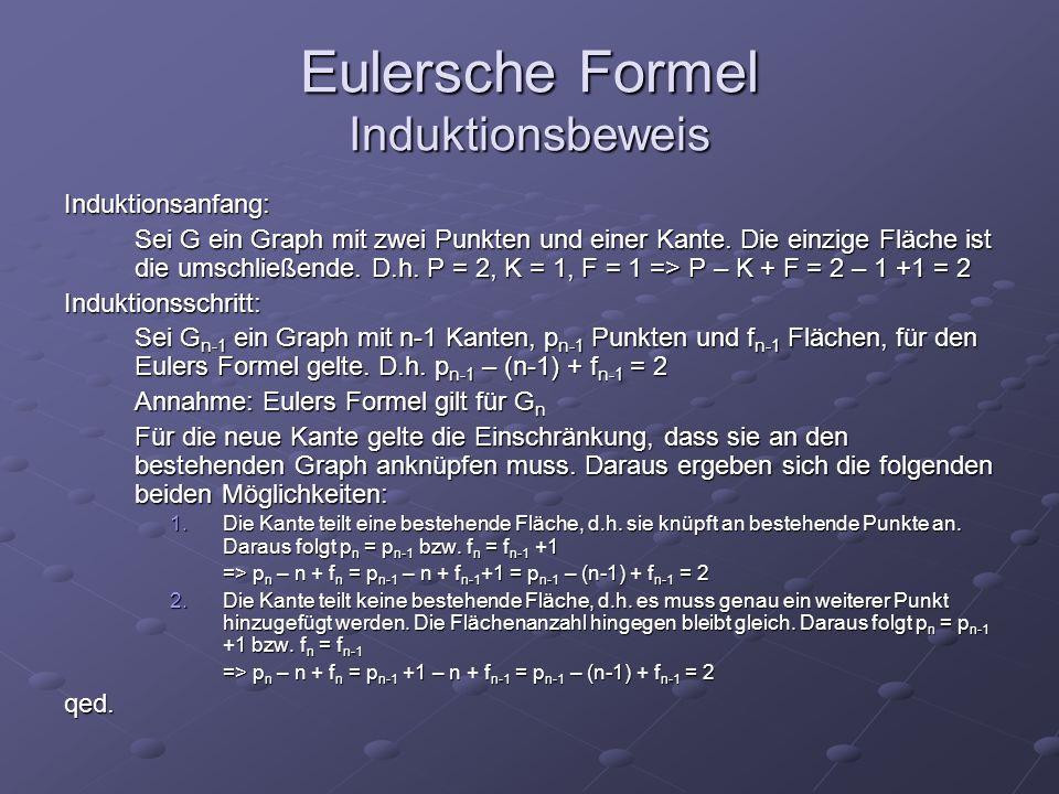 Eulersche Formel Induktionsbeweis