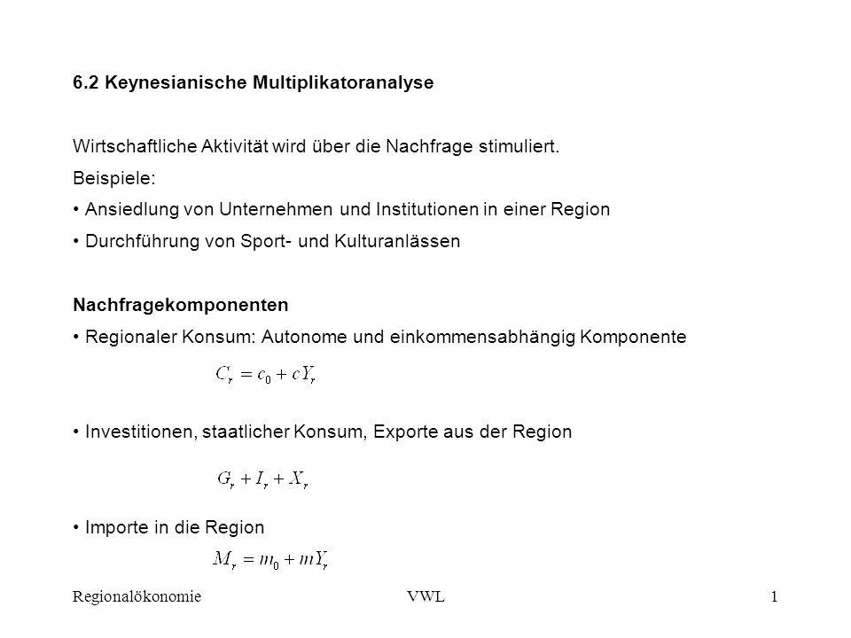 6.2 Keynesianische Multiplikatoranalyse