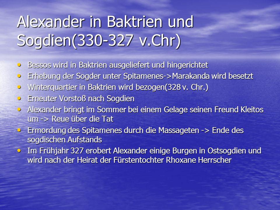 Alexander in Baktrien und Sogdien(330-327 v.Chr)