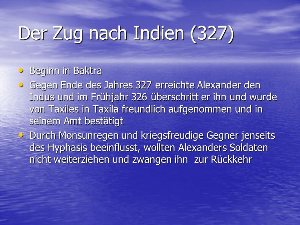 Der Zug nach Indien (327) Beginn in Baktra