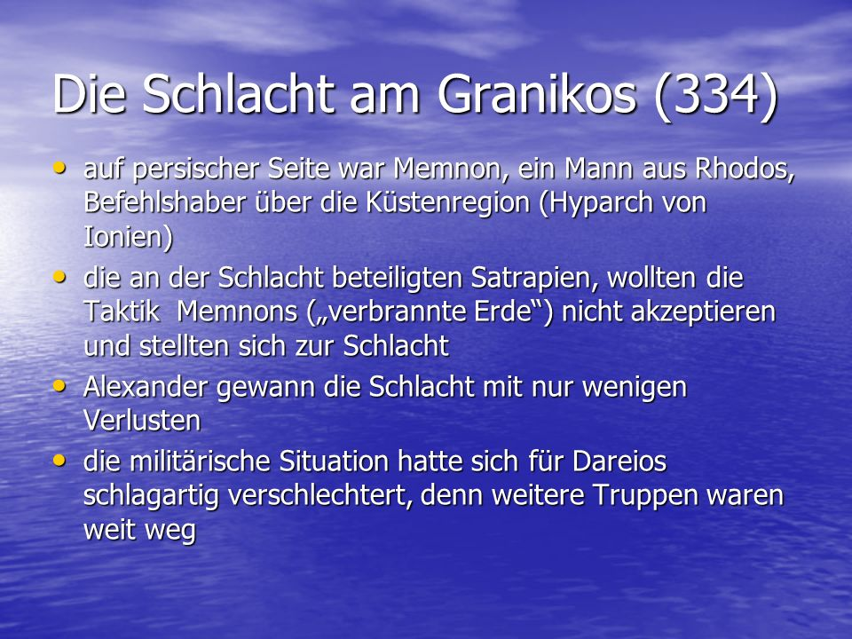 Die Schlacht am Granikos (334)