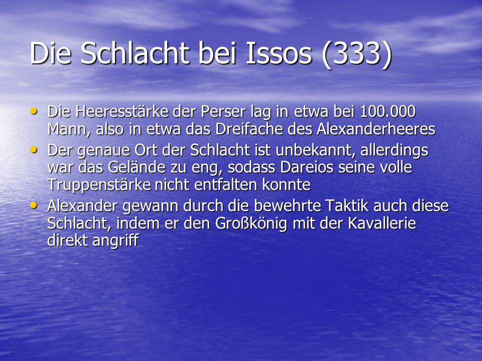 Die Schlacht bei Issos (333)