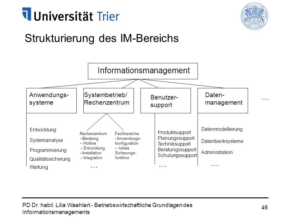 Strukturierung des IM-Bereichs