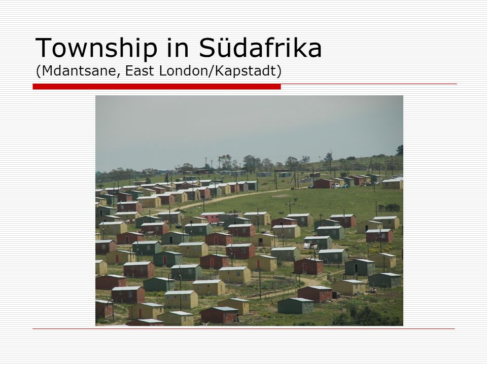 Township in Südafrika (Mdantsane, East London/Kapstadt)