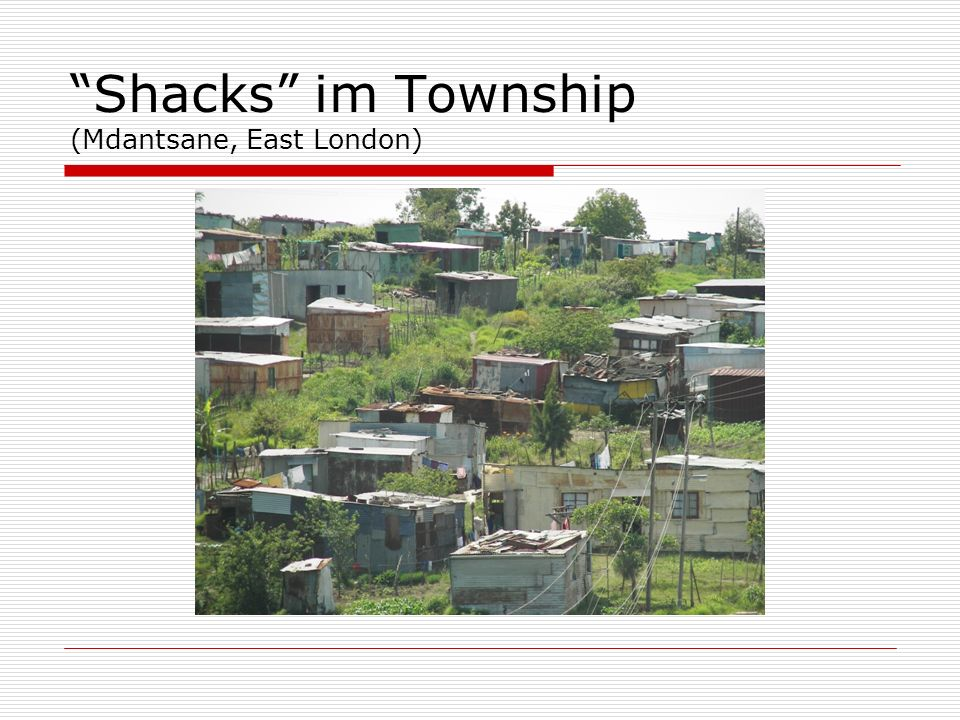 Shacks im Township (Mdantsane, East London)