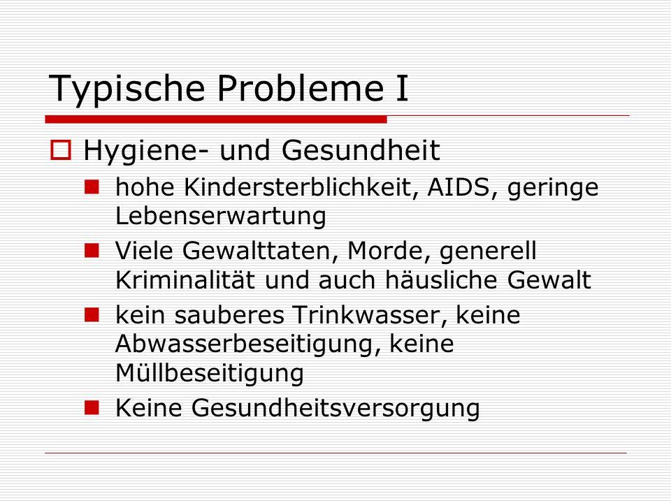Typische Probleme I Hygiene- und Gesundheit