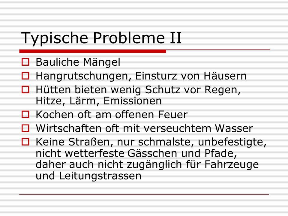 Typische Probleme II Bauliche Mängel