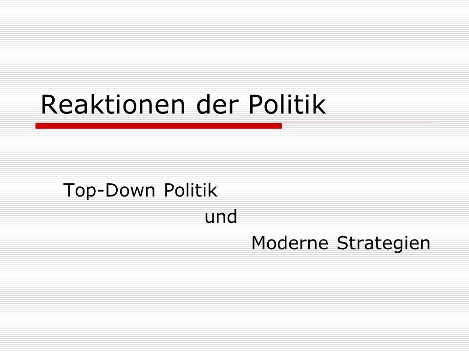 Reaktionen der Politik
