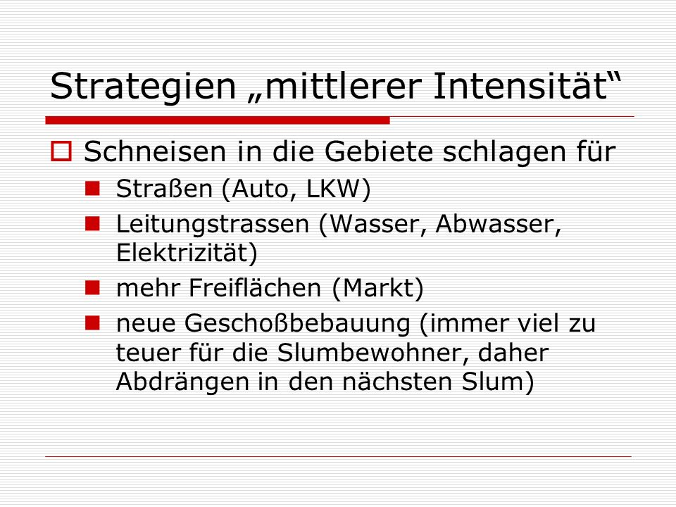 "Strategien ""mittlerer Intensität"