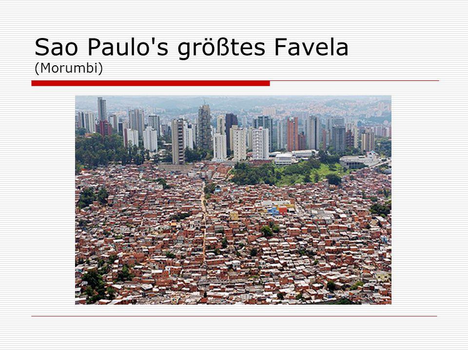 Sao Paulo s größtes Favela (Morumbi)