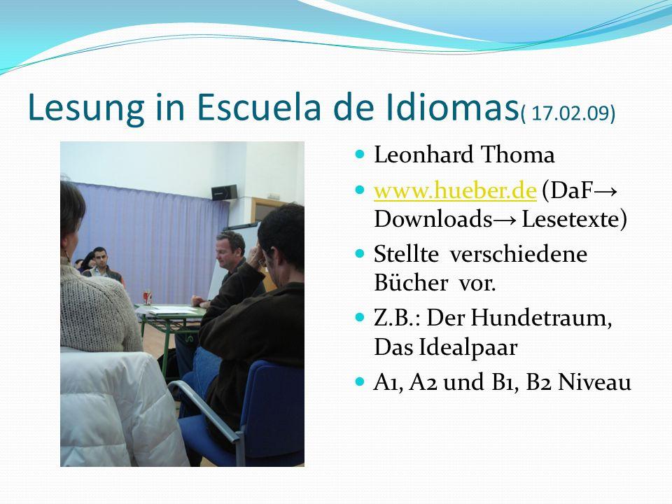 Lesung in Escuela de Idiomas( 17.02.09)