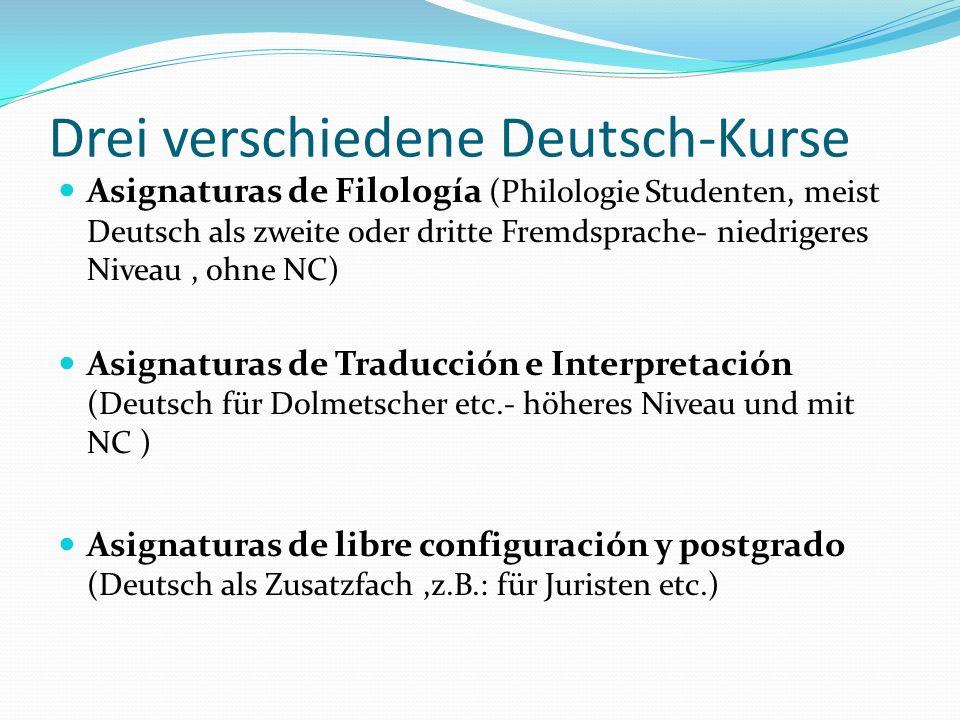 Drei verschiedene Deutsch-Kurse