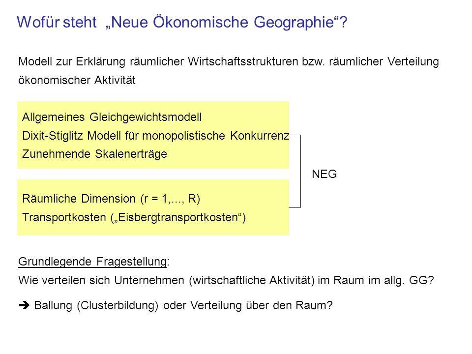 """Wofür steht """"Neue Ökonomische Geographie"""