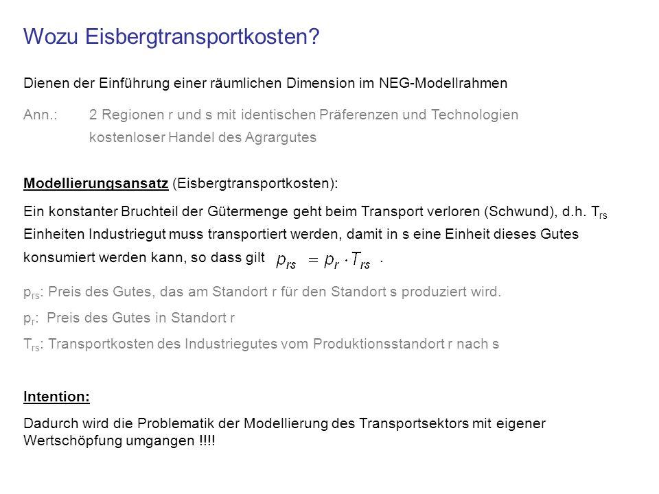 Wozu Eisbergtransportkosten