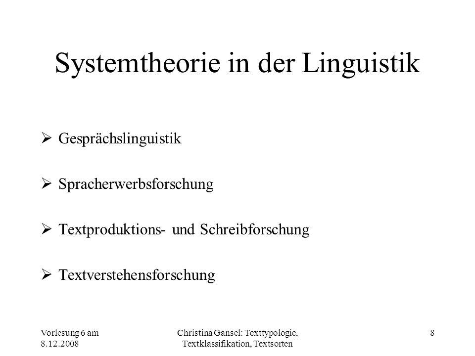 Systemtheorie in der Linguistik