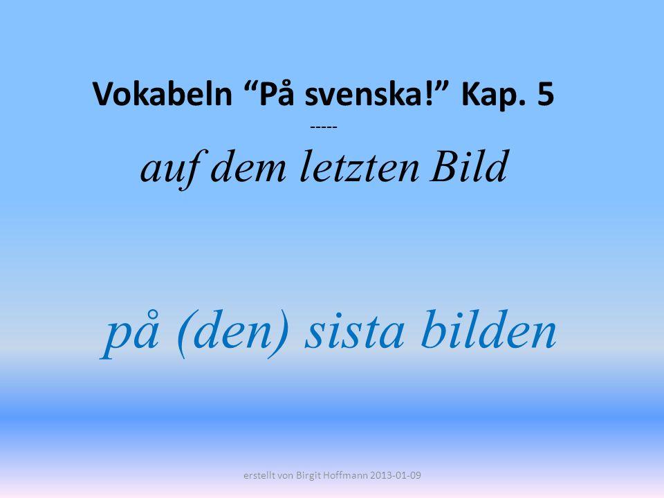 Vokabeln På svenska! Kap. 5 ----- auf dem letzten Bild