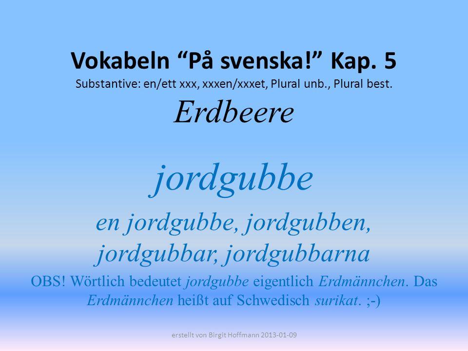 Vokabeln På svenska. Kap