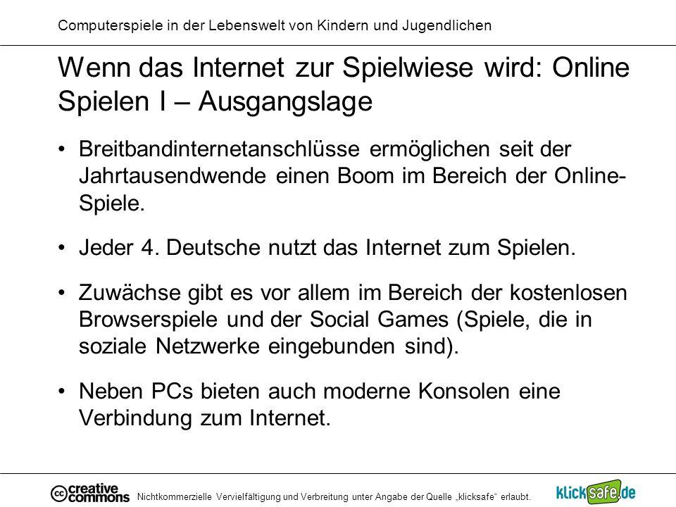 Computerspiele in der Lebenswelt von Kindern und Jugendlichen