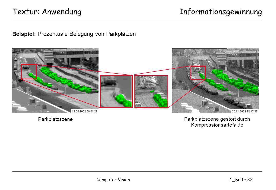 Parkplatzszene gestört durch Kompressionsartefakte