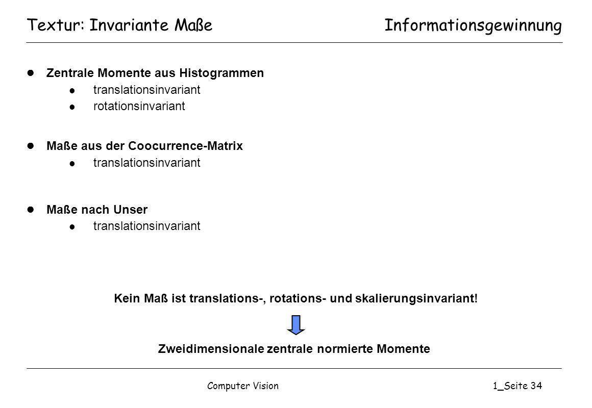 Textur: Invariante Maße