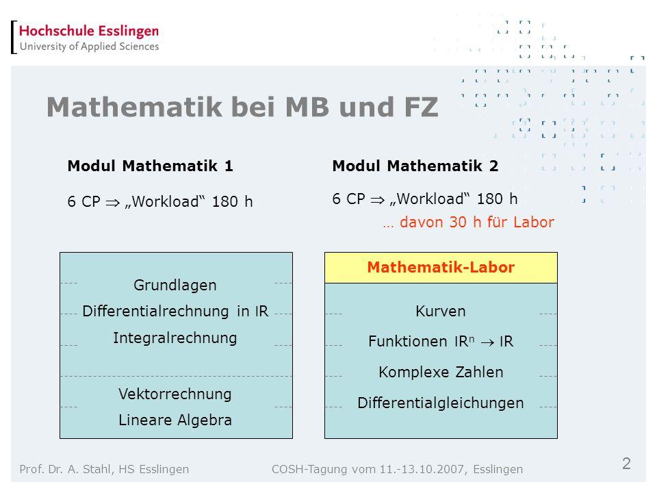Mathematik bei MB und FZ