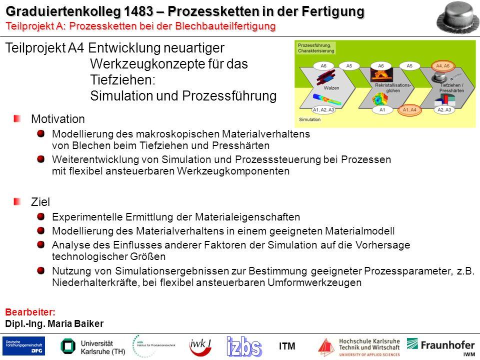 Teilprojekt A4 Entwicklung neuartiger Werkzeugkonzepte für das Tiefziehen: Simulation und Prozessführung