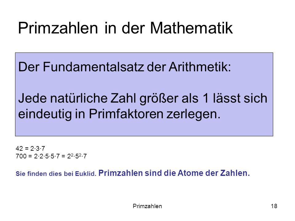 Primzahlen in der Mathematik