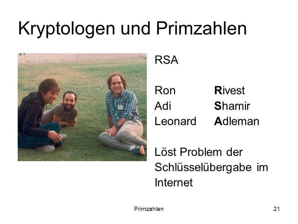 Kryptologen und Primzahlen