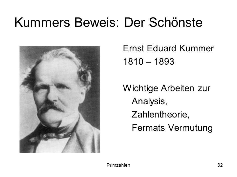 Kummers Beweis: Der Schönste
