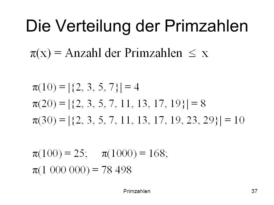 Die Verteilung der Primzahlen