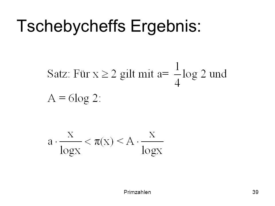 Tschebycheffs Ergebnis: