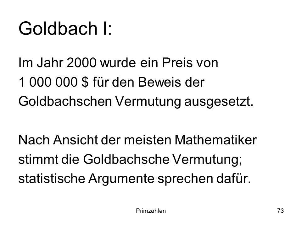 Goldbach I: Im Jahr 2000 wurde ein Preis von