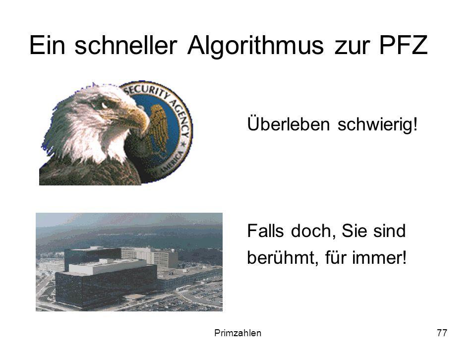 Ein schneller Algorithmus zur PFZ