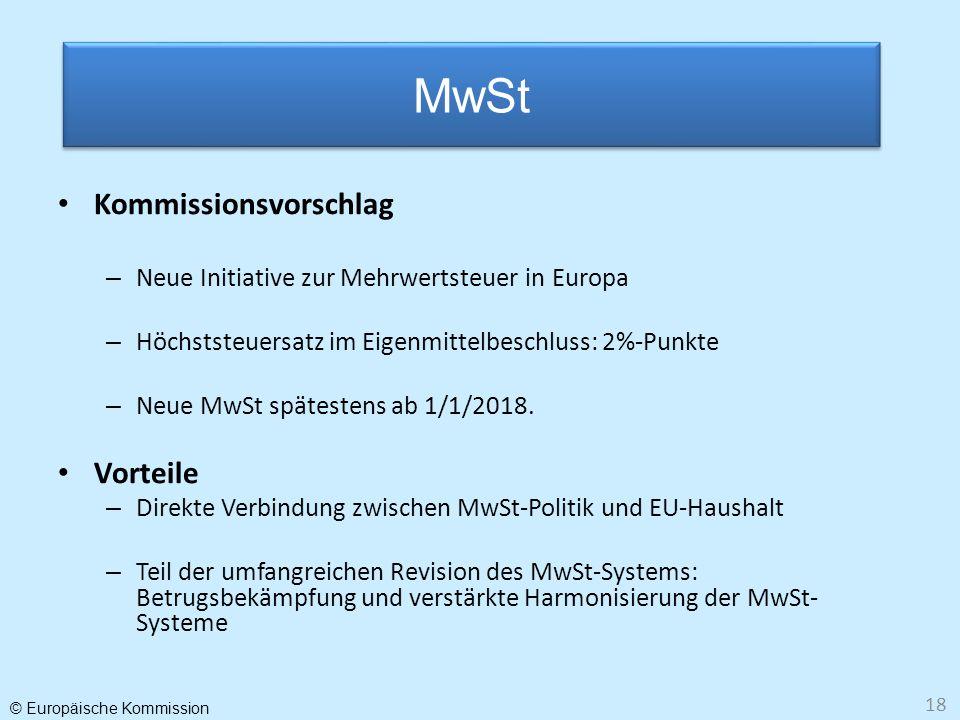 MwSt Kommissionsvorschlag Vorteile