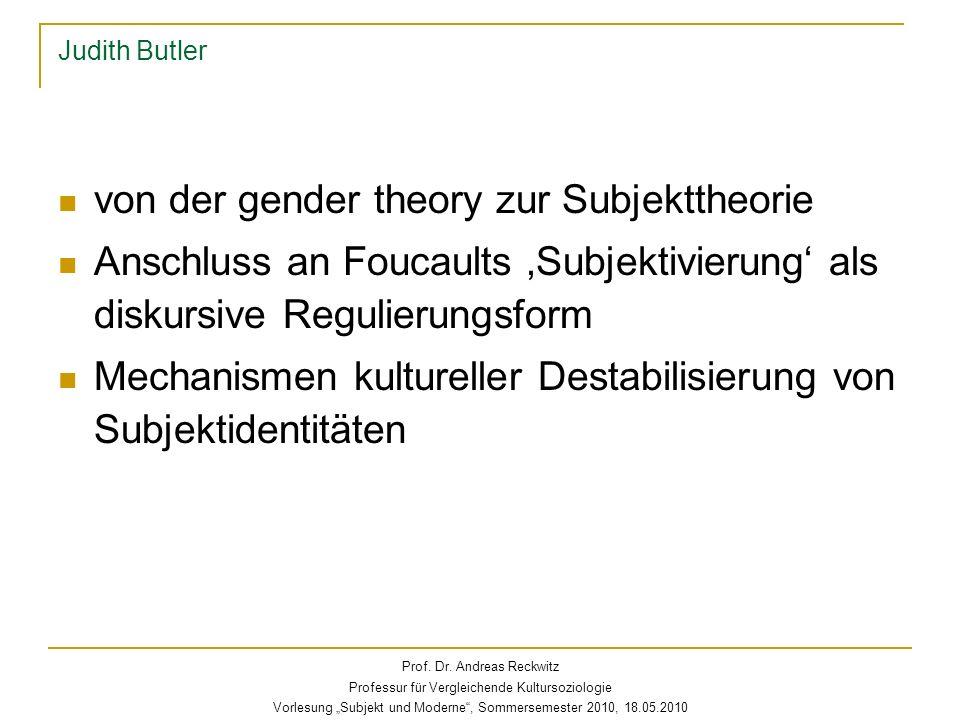 von der gender theory zur Subjekttheorie