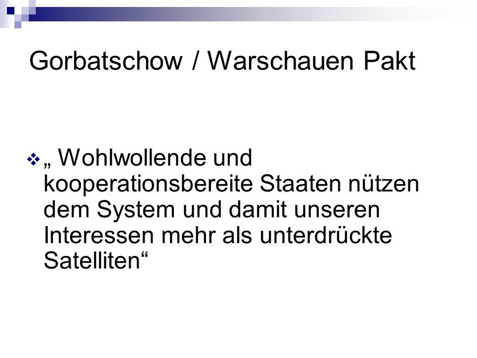 Gorbatschow / Warschauen Pakt