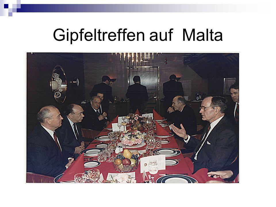 Gipfeltreffen auf Malta